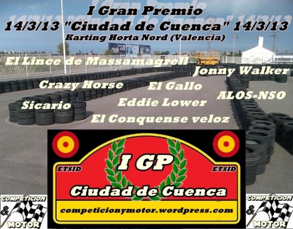 I Gran Premio Ciudad de Cuenca en el Karting Horta Nord, Valencia, patrocinado por Competicion & Motor. ETSID, UPV Racing
